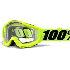 100% Accuri OTG Anti Fog Clear Goggles Fluo Yellow